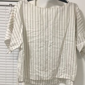 Zara 3 button striped shirt